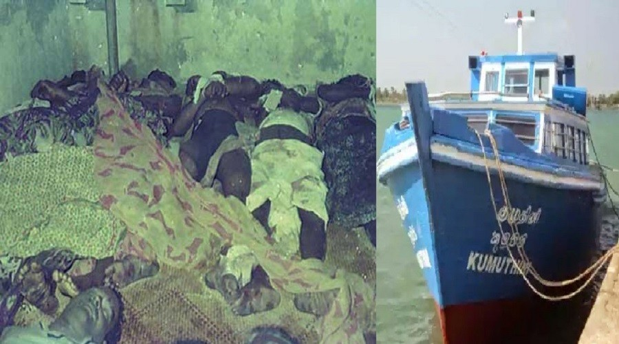 36 souls hacked to death by Sri Lanka Navy  on-board Kumuthini , commemorated yesterday
