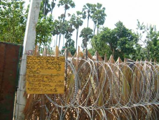600 acre of land occupied by the Army in Jaffna and Kilinochchi town areas to be released soon