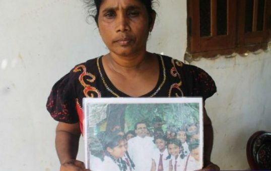 """ My missing daughter is with Maithri in his election pamphlet ""-Mother summoned by TID."