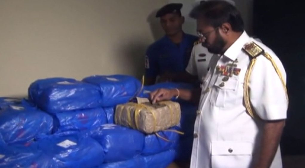 49 Kgs of Ganja recovered from seas off Kankesanthurai by the Navy