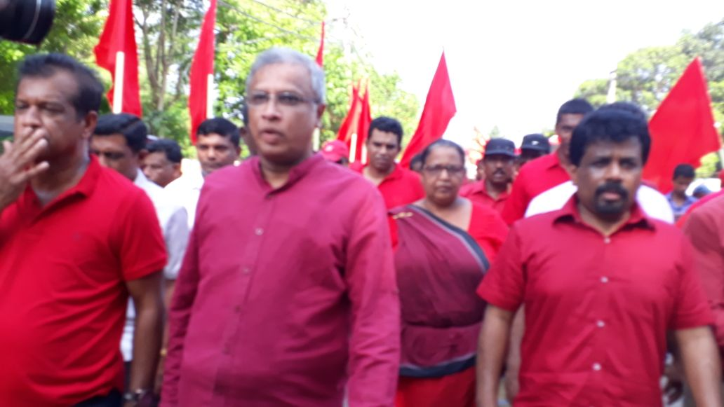 The people of the country have been pushed into Racist Politics says JVP's Anurakumara in Jaffna