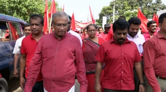 Sumanthiran in the JVP May Day Rally in Jaffna