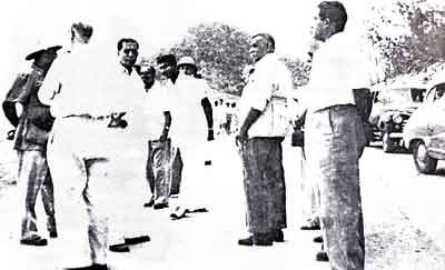 D.S. Senanayake at the Gal Oya site