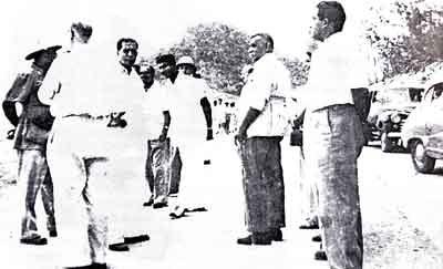 D.S. Senanayake at the Gal Oya site