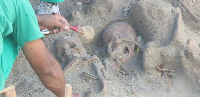 Report on mass grave skeletons received by the court