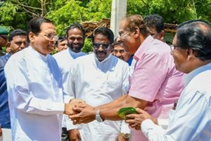 Maithri's call on TNA for development of North and East