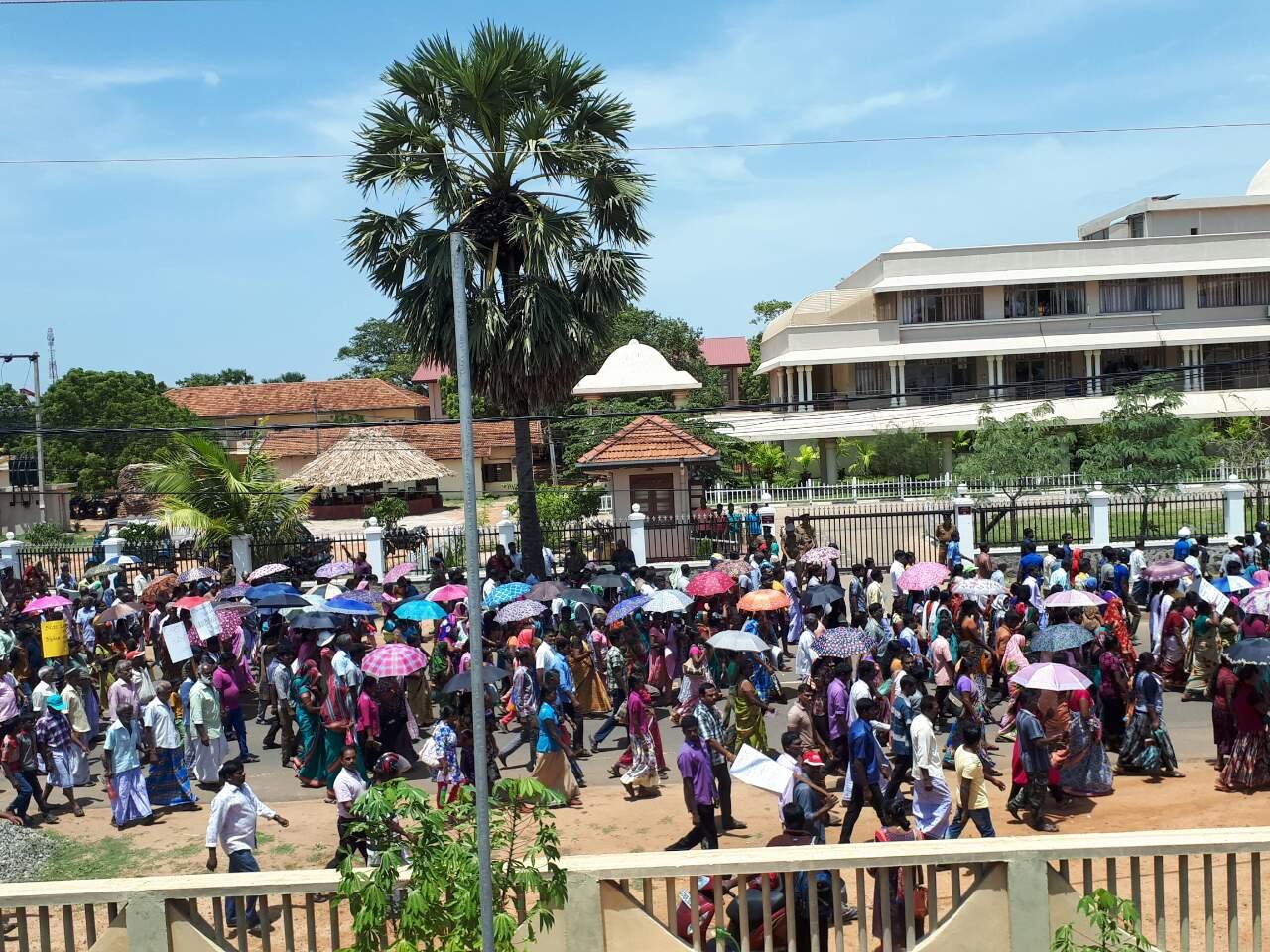 Massive Protest Rallyagainst planned Sinhala Colonization in Mulaitheevu – Thousands participate
