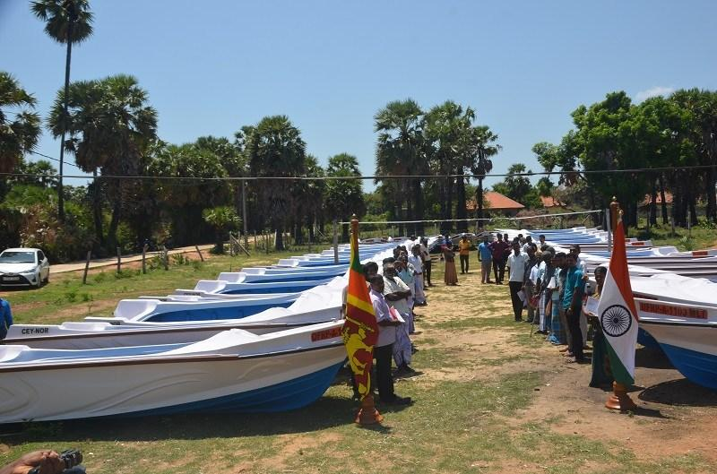 Fishing Boats and Engines to Mulaitheevu Fishermen, under Financial Assistance from India