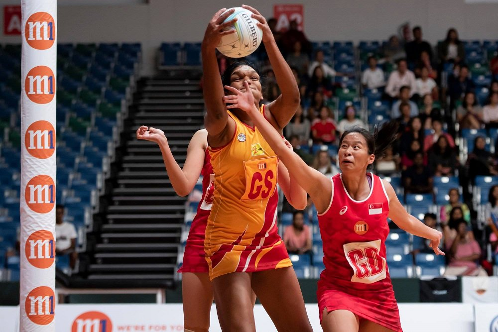 Tharjini fought hard for Sri Lanka to beat Malaysia in Asian Cup Netball Championship