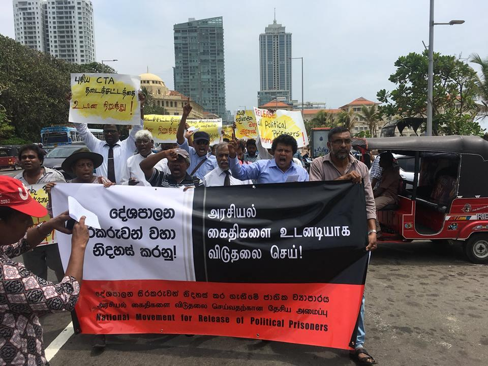Demonstration in Colombo in support of TPPs, with the participation of Sinhala people including Buddhist monk