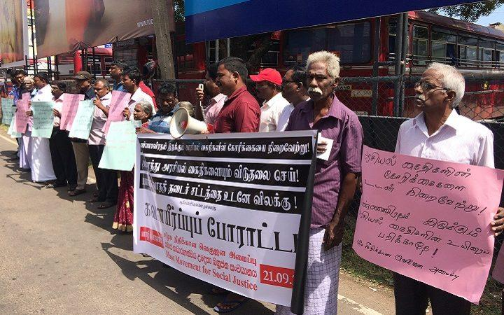 Symbolic Fasting in Jaffna, in support of fasting TPPs