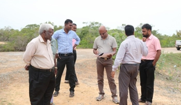 Indian Team inspects site for Pooneryn Tank