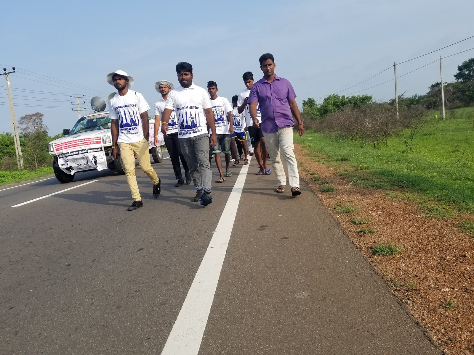 March for release of TPPs reaches Kilinochchi