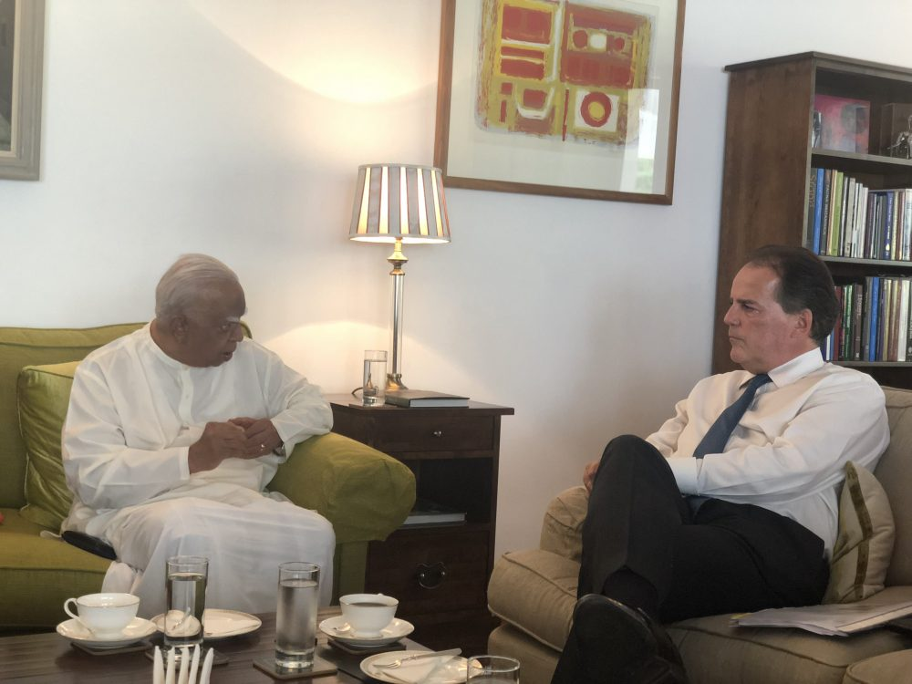 Sampanthan say to British Minister: Power devolution should be granted through new Constitution