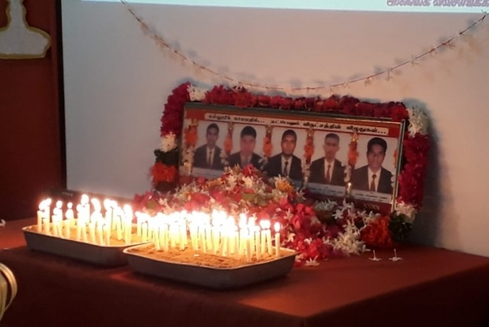 Commemoration of 5 students of Agricultural College , killed by the Army