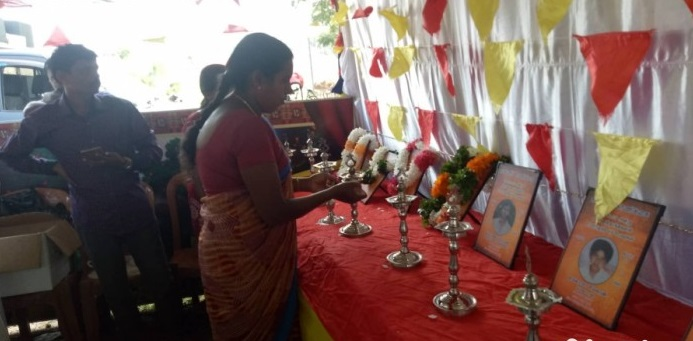 Commemoration of 12 people who were killed on the Maveerar day of 1990 by SLAF bombing