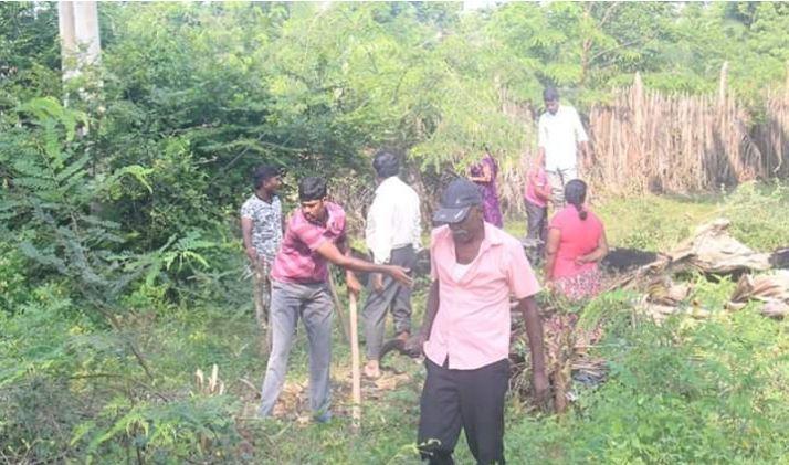 Aadkaaddy Veli Maveerar Thuyilumillam – cleaning undertaken