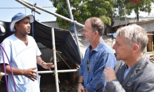 German Envoy inspects the Mannar Sathosa Excavations