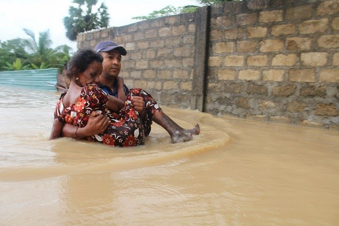 Flood Disaster in North – 114,000 persons affected – Worst affected Killinochchi with 70,000 affected