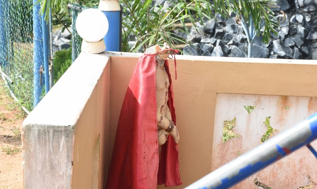 40 years old statue of Lord located on Parappukadanthan main road vandalized 2