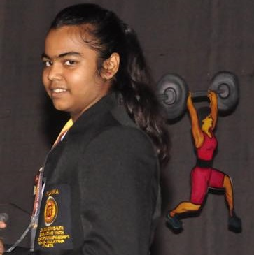 Arshika in Weight Lifting  Gold  in National Weight Lifting Championships