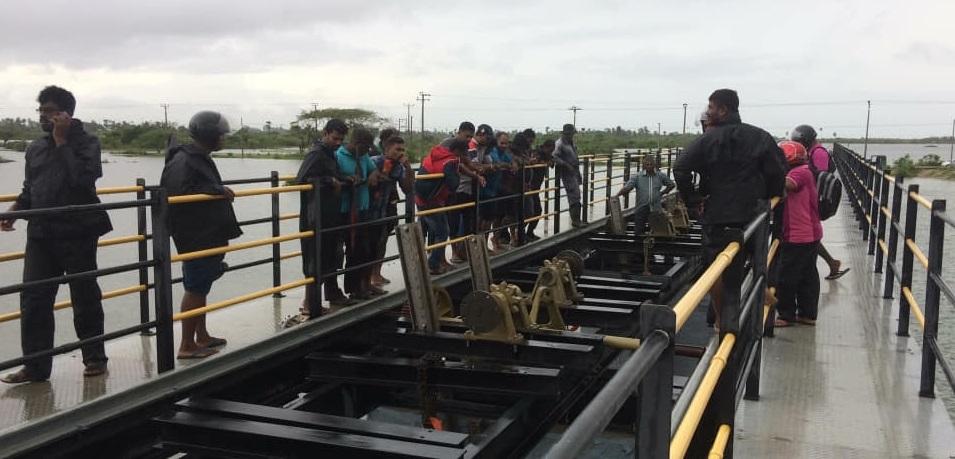 Thondaimanaru lagoons sluice gates opened