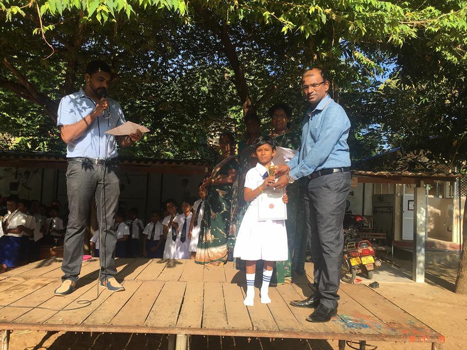 Jaffna Hindu Primary's Vishalini brings honour to Home land winning under 7 years Chess title