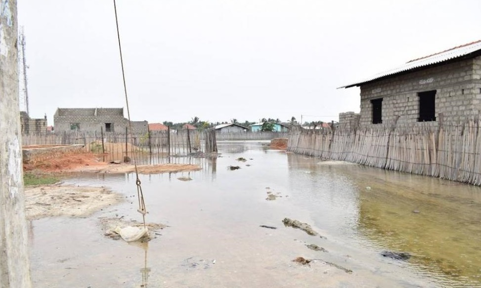 Sea water invade villages in Mannar and Mulaitheevu Districts