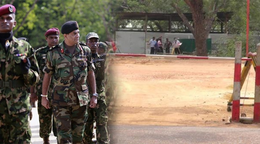 Kilinochchi MV  Play ground under Army control – students practice in another ground