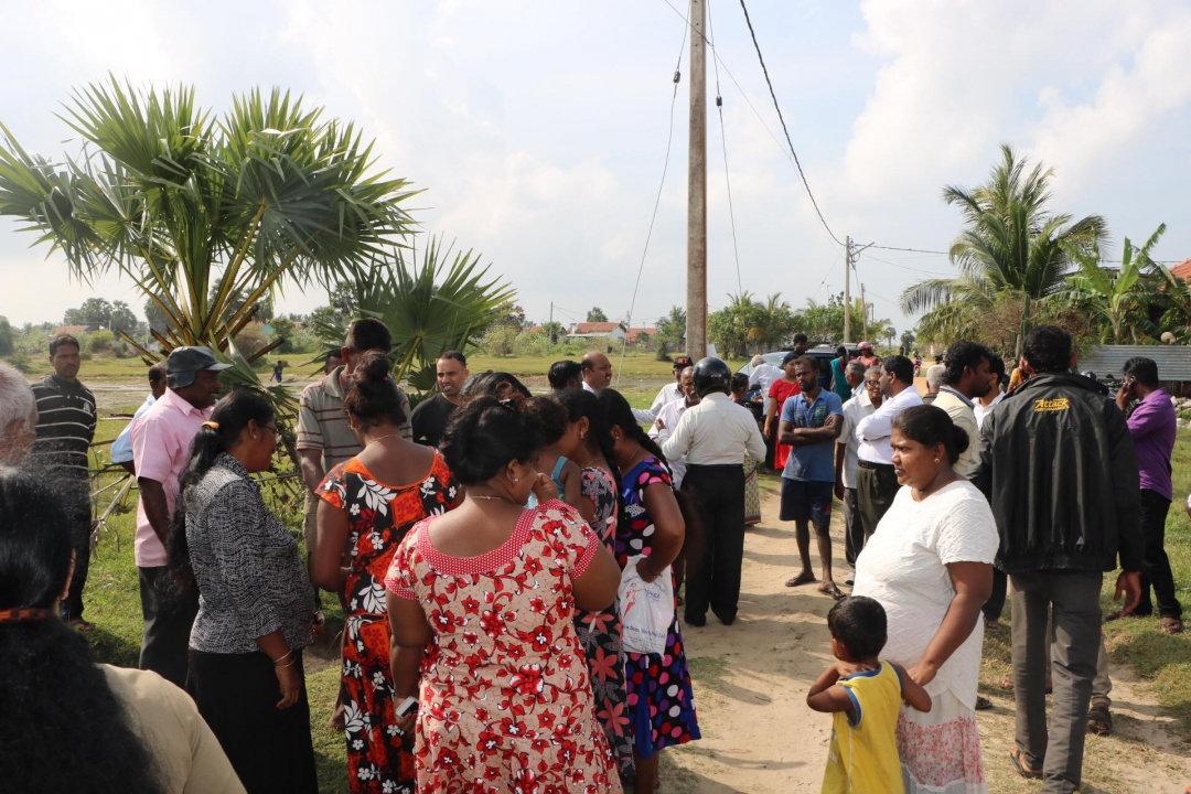 Surveying for land acquisition abandoned due to opposition from land owners