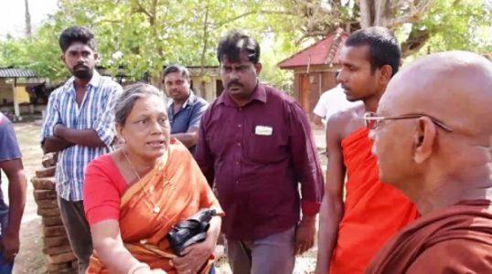 Attempt to place Buddha statue after demolishing the foundation of Pillaiyar Temple at Kinniya, Trincomalee 2