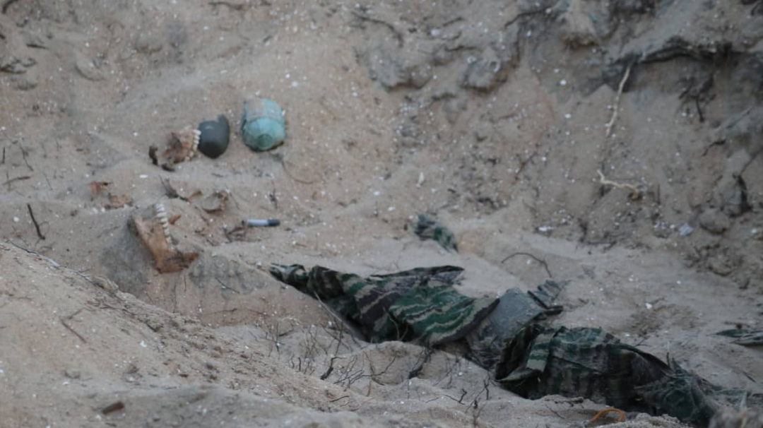 Human remains recovered at Muliwaikkal in the Uniform of Liberation Tigers sent for analysis
