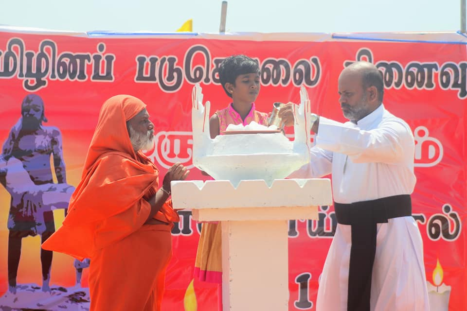 Hundreds of Tamils gather in Mullivaikkal soil to mark the 10th  year of Mullivaikkal Genocide