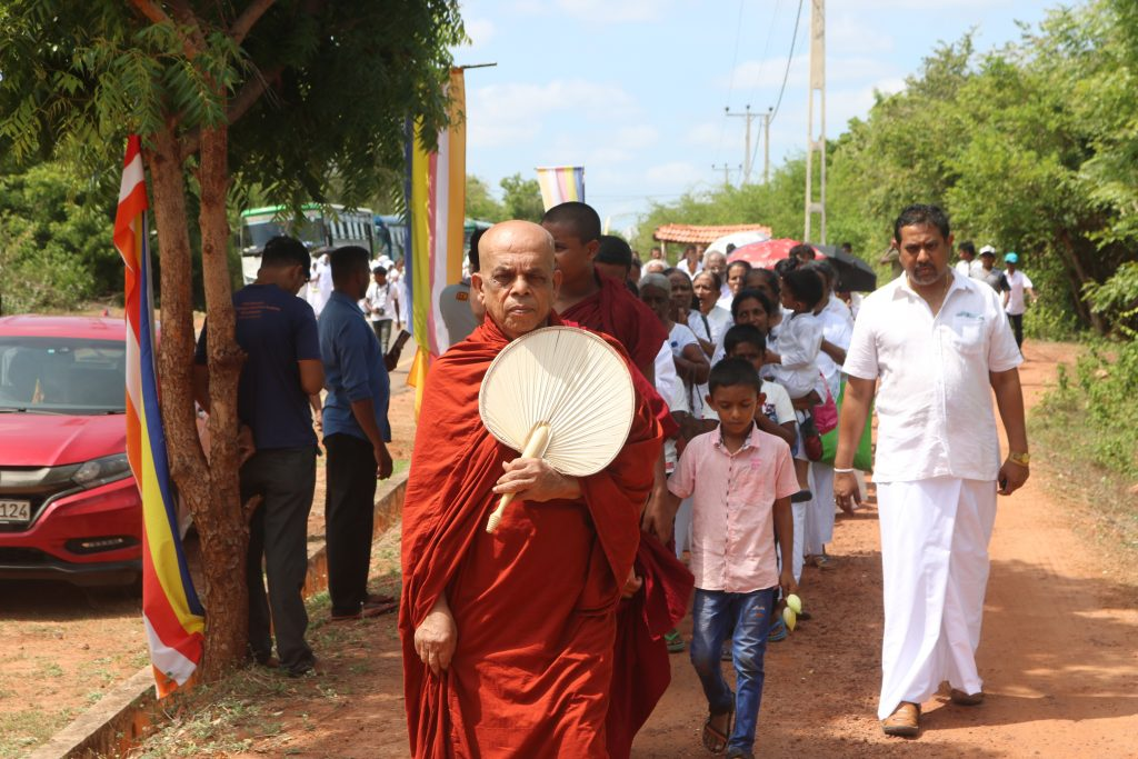 Sinhalese people who came to Neeraviyadl Pilayar premises with an intention to rob the said premises