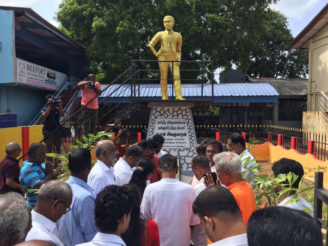 45th Commemoration of 'Thiyagi' Pon. Sivakumaran observed at his memorial in Urumpirai
