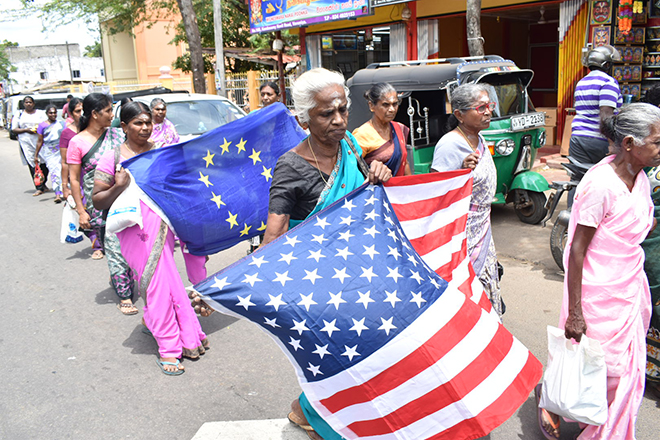 Relatives of Missing hold protest Rally in Vavuniya