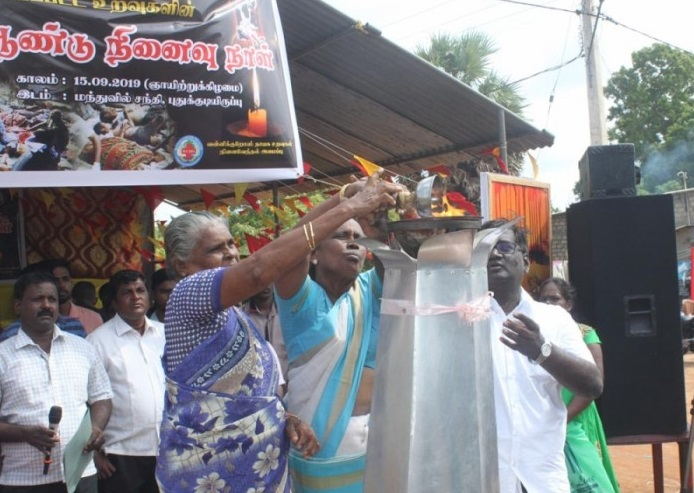 20th Annual commemoration of People killed at Manthuvil in Air attack held sentimentally in Mulaitheevu