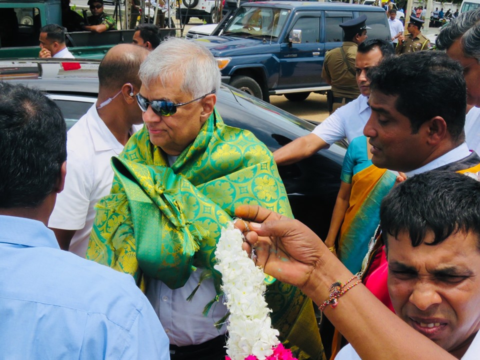 Attempts are being made to find political Solution to problems of Tamil people, says Ranil  in Jaffna