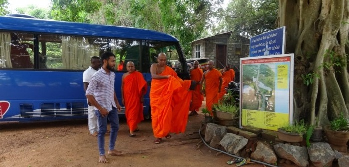 Buddhist monks cause new controversy at Neeraviyadi Temple introducing Archaeological ruins