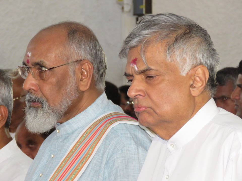 Wigneswaran rejects Ranil's invitation to meet him saying It is proper to meet 5 parties together