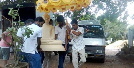3 ½ ' Buddha Statue brought to Neeraviyadi Temple premises contravention to court order