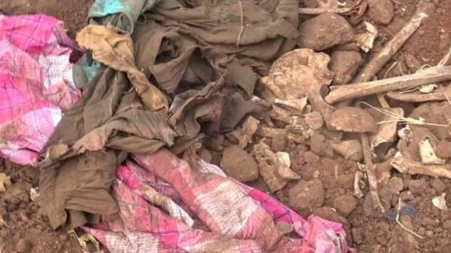 Human bones and ammunition recovered in Mankulam Hospital excavations
