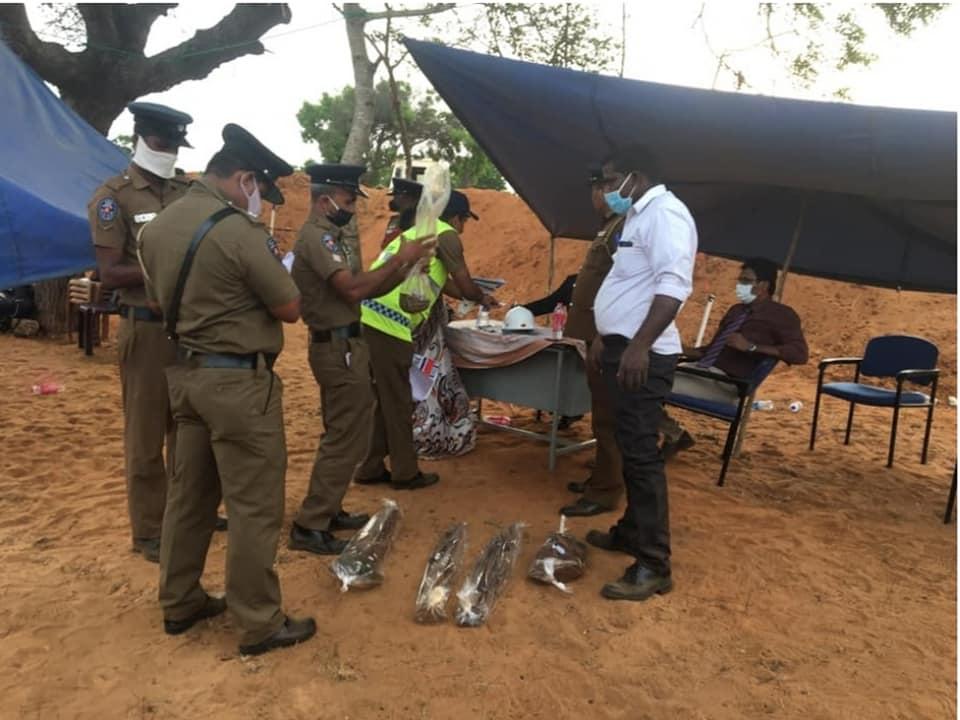 Excavation at Muhamalai – Uniforms, human remains rifles of Liberation Tigers recovered