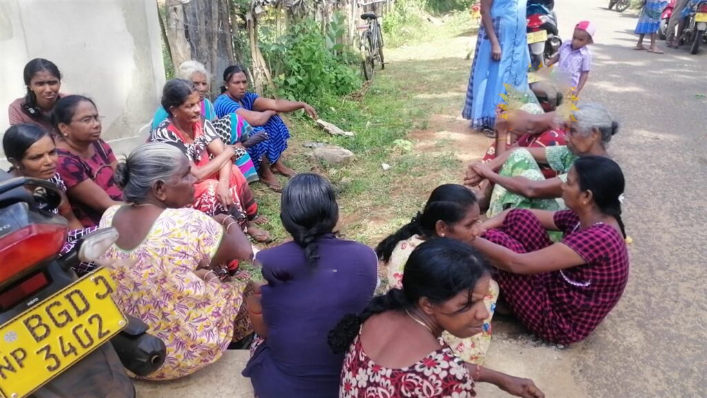 Friction between people of Mulai/Thamduvaan and Survey Department