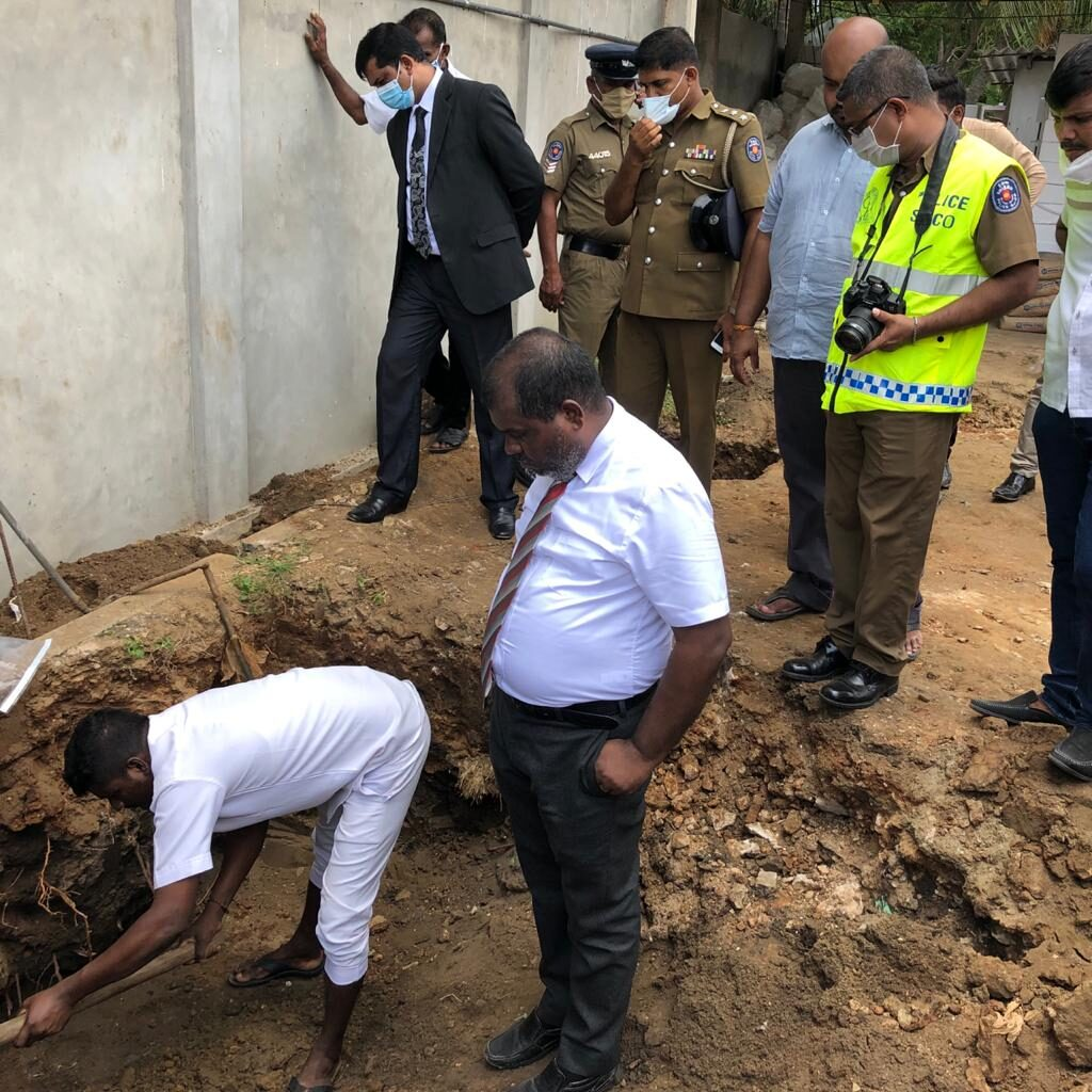 The leg portion of the human remains found at Koddady recovered