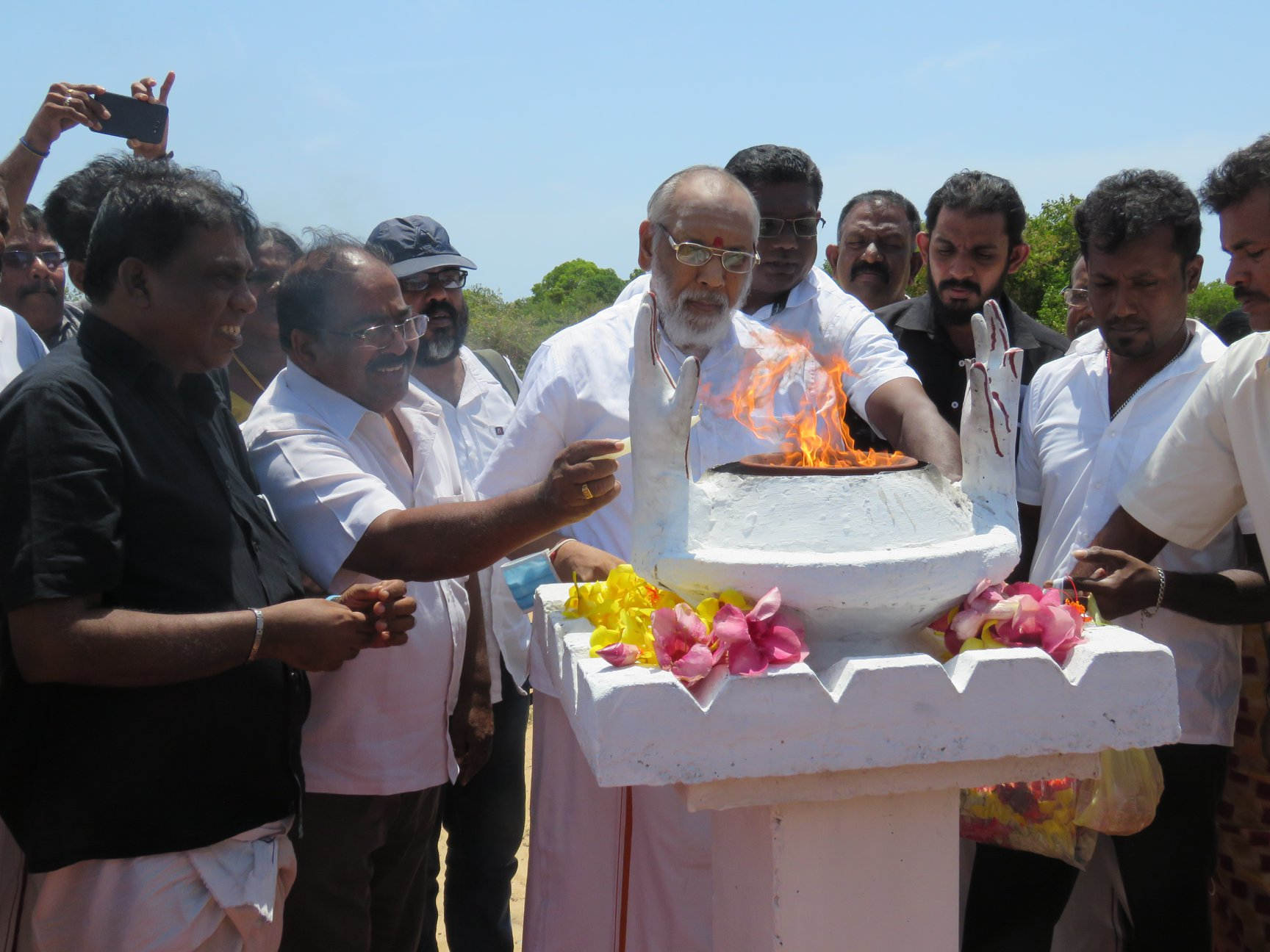 We shall fight till our rights are won, declares Wigneswaran, while starting his voyage to the Parliament after paying homage at Muliwaikkal