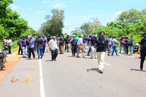 Northern Media men hold protest Rally against the attack on Media men 1